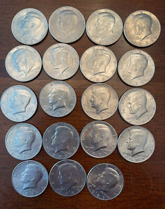 1983 P & D KENNEDY HALF DOLLARS LOT OF 19 COINS SEE DESCRIPTION FOR EACH MINT