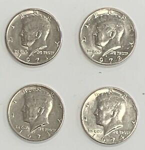 1971 72 73 74 SET OF 4 KENNEDY HALF DOLLAR COINS VINTAGE COLLECTION