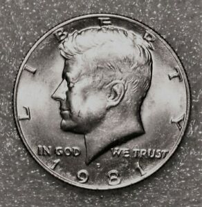 1981 D KENNEDY HALF DOLLAR FROM UNCIRCULATED US MINT ROLL