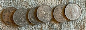 GREAT BRITAIN COPPER NICKEL 1 SHILLING COINS VARIOUS YEARS COLLECTORS