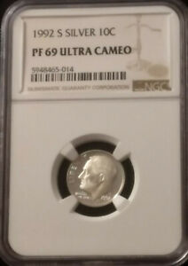 1992 SILVER PROOF ROSSEVELT DIME NGC PROOF 69 ULTRA CAME NGC 594865 14