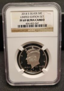 2014 S PROOF SILVER KENNEDY LIMITED EDITION SET NGC PF69 ULTRA CAMEO .50 50 C