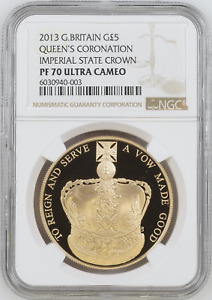 Click now to see the BUY IT NOW Price! 2013 ROYAL MINT ROYAL CORONATION CROWN GOLD PROOF FIVE POUNDS 5   NGC PF70