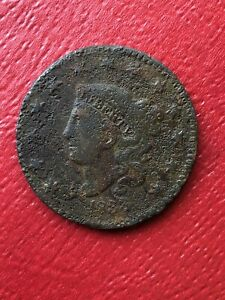 1833 CORONET LARGE CENT VF DETAIL WE COMBINE ON SHIPPING