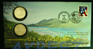 2009 VIRGIN ISLANDS QUARTER FIRST DAY COIN COVER WB5 SEALED