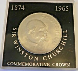 1965 SIR WINSTON CHURCHILL CROWN COIN IN PERSPEX CASE.