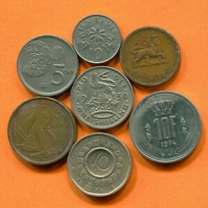 COLLECTION WORLD COINS MIXED LOT DIFFERENT COUNTRIES AND REGIONS L10374.1.C