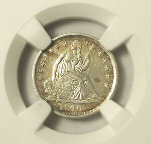 1840 LIBERTY SILVER HALF DIME AU DETAILS  NGC  CLEANED