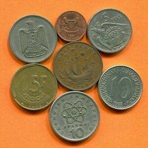 COLLECTION WORLD COINS MIXED LOT DIFFERENT COUNTRIES AND REGIONS L10377.1.C