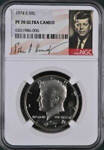 Click now to see the BUY IT NOW Price! 1974 S 50C KENNEDY HALF DOLLAR   NGC PF70 ULTRA CAMEO   LOW POP