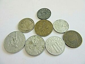 LOT OF 8 WORLDWIDE COINS  ASSORTED       LOW PRICED & LOW SHIPPING .. D10