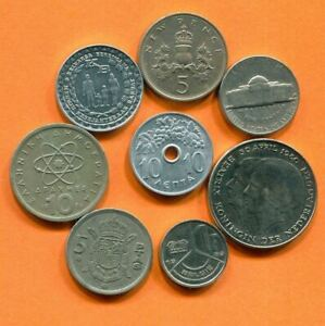 COLLECTION WORLD COINS MIXED LOT DIFFERENT COUNTRIES AND REGIONS L10389.1.C