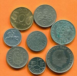 COLLECTION WORLD COINS MIXED LOT DIFFERENT COUNTRIES AND REGIONS L10390.1.C