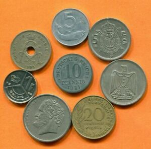 COLLECTION WORLD COINS MIXED LOT DIFFERENT COUNTRIES AND REGIONS L10397.1.C