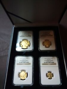 Click now to see the BUY IT NOW Price! 2008 W GOLD BUFFALO 4 COIN PROOF SET NGC PF 70 ULTRA CAMEO.