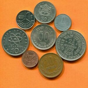 COLLECTION WORLD COINS MIXED LOT DIFFERENT COUNTRIES AND REGIONS L10403.1.C