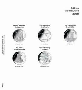LINDNER 1520 16 COIN SHEETS K2   PRINTED PAGE GERMANY 2016