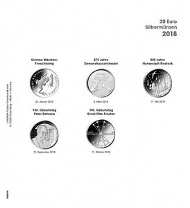 LINDNER 1520 18 COIN SHEETS K2   PRINTED PAGE GERMANY 2018