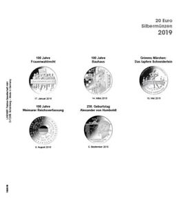 LINDNER 1520 19 COIN SHEETS K2   PRINTED PAGE GERMANY 2019