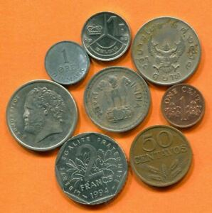COLLECTION WORLD COINS MIXED LOT DIFFERENT COUNTRIES AND REGIONS L10404.1.C