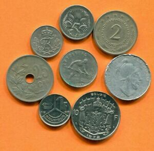 COLLECTION WORLD COINS MIXED LOT DIFFERENT COUNTRIES AND REGIONS L10407.1.C