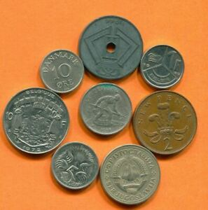 COLLECTION WORLD COINS MIXED LOT DIFFERENT COUNTRIES AND REGIONS L10408.1.C