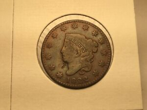 1822 LARGE CENT IN FINE