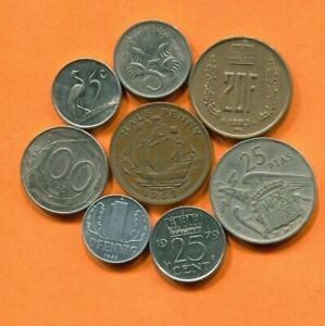 COLLECTION WORLD COINS MIXED LOT DIFFERENT COUNTRIES AND REGIONS L10417.1.C