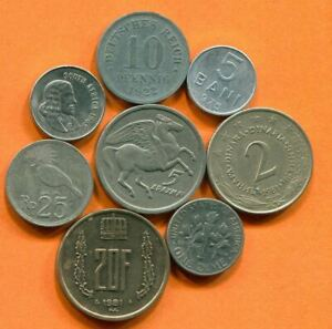 COLLECTION WORLD COINS MIXED LOT DIFFERENT COUNTRIES AND REGIONS L10419.1.C