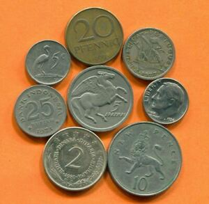 COLLECTION WORLD COINS MIXED LOT DIFFERENT COUNTRIES AND REGIONS L10420.1.C
