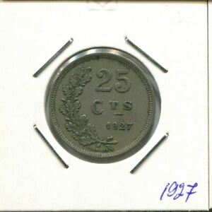 25 CENTIMES 1927LUXEMBURG LUXEMBOURG MNZE AR678.D