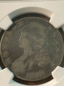 1828 CAPPED BUST HALF DOLLAR. F12 SHIPS FREE