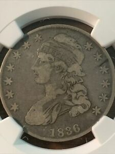 1836 CAPPED BUST HALF DOLLAR. F12 SHIPS FREE
