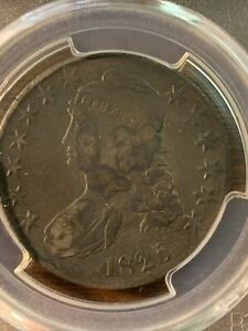 1826 CAPPED BUST HALF DOLLAR. VF 25 SHIPS FREE