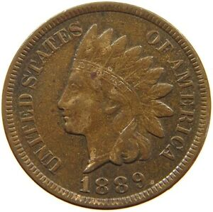 UNITED STATES CENT 1889 INDIAN HEAD A63 189