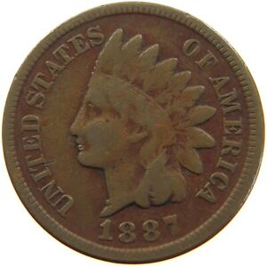 UNITED STATES CENT 1887 INDIAN HEAD A63 221