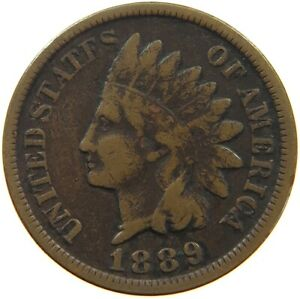 UNITED STATES CENT 1889 INDIAN HEAD A63 227