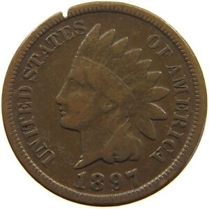 UNITED STATES CENT 1897 INDIAN HEAD A63 237