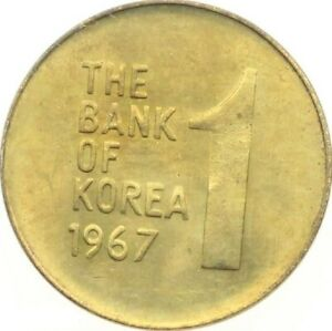 Click now to see the BUY IT NOW Price! KOREA 1 WON 1967 KM 4 UNC