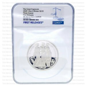 Click now to see the BUY IT NOW Price! 2020 ROYAL MINT THREE GRACES SILVER PROOF 10 OUNCE   NGC PF70 FIRST RELEASE