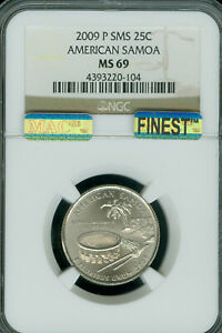 Click now to see the BUY IT NOW Price! 2009 P AMERICAN SAMOA QUARTER NGC MS69  SMS MAC FINEST & SPOTLESS ..
