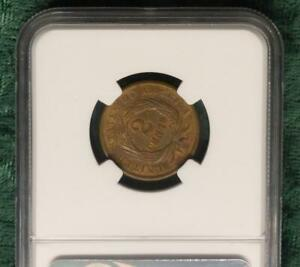 1864 NGC MS64 ROTATED DIES LARGE MOTTO 2 CENT PENNY NICE MINT ERROR HIGH GRADE