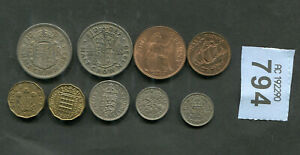 SET OF  9  COINS OF    GREAT BRITAIN