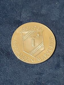 1967 ABERDEEN PROVING GROUND 50 YEAR COMMEMORATIVE COIN MARYLAND