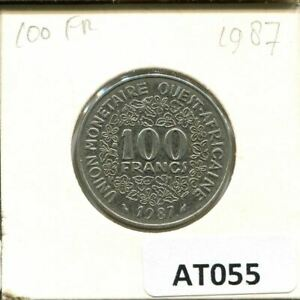 100 FRANCS CFA 1987 WESTERN AFRICAN STATES  BCEAO  COIN AT055.U