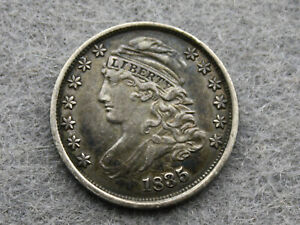 1835 CAPPED BUST DIME 10C   AU OR BETTER    EARLY DATE   WITH REVERSE CUD