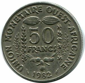 50 FRANCS 1985 WESTERN AFRICAN STATES COIN AP957.U