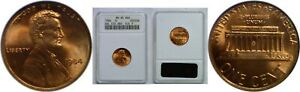 1984 1C LINCOLN CENT DOUBLE DIE OBVERSE ANACS MS 65 RED DIE 9