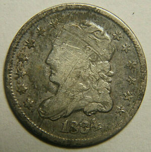 1834 CAPPED BUST 90  SILVER HALF DIME
