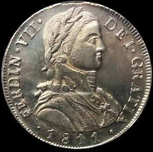 Click now to see the BUY IT NOW Price! CHILE 1811 SO FJ  SILVER  8 REALES  NGC MINT STATE   62